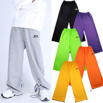 BASIC COTTON Casual Style Unisex Street Style Plain Cotton Long Pants