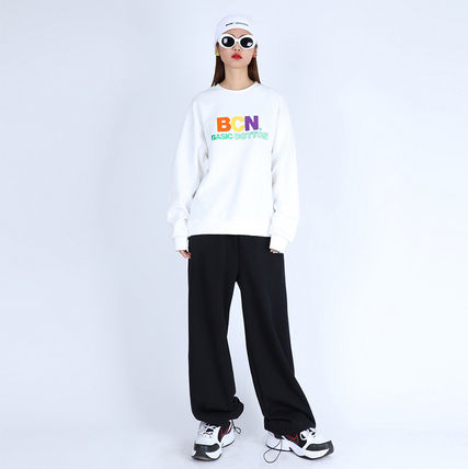 Casual Style Unisex Street Style Plain Cotton Long Logo