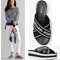 Michael Kors Open Toe Platform Casual Style Street Style Shower Shoes