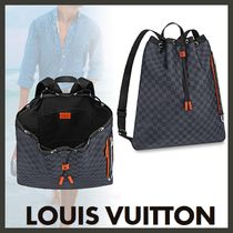 Louis Vuitton DAMIER Other Check Patterns Canvas Blended Fabrics Street Style A4
