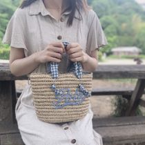 POLO RALPH LAUREN Gingham Straw Bags