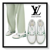 Louis Vuitton Blended Fabrics Bi-color Leather Sneakers