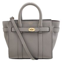 Mulberry Bayswater 2WAY Plain Leather Office Style Shoulder Bags