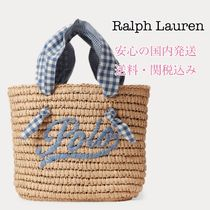 Ralph Lauren Gingham Casual Style Plain Totes