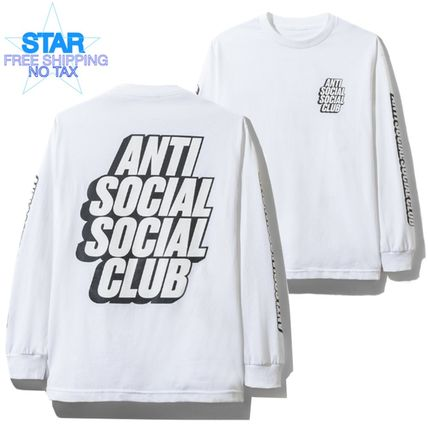 Crew Neck Long Sleeves Plain Logos on the Sleeves
