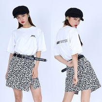 BASIC COTTON Pencil Skirts Short Leopard Patterns Street Style Cotton