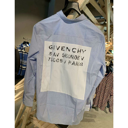 GIVENCHY Shirts Stripes Street Style Long Sleeves Cotton Shirts 2