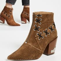 TOGA Plain Elegant Style Ankle & Booties Boots