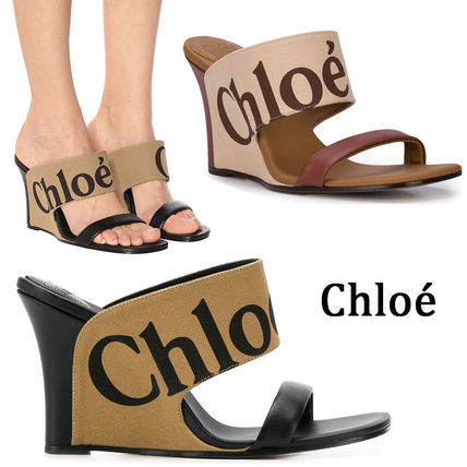 Open Toe Casual Style Blended Fabrics