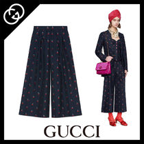 GUCCI Casual Style Wool Plain Long Culottes & Gaucho Pants