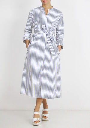 Stripes Cotton Long Dresses