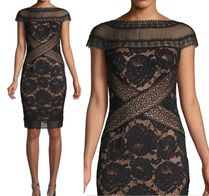 TADASHI SHOJI Flower Patterns Tight Dresses