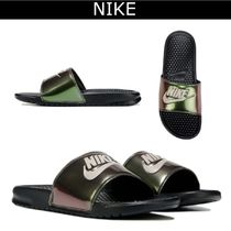 Nike BENASSI Plain Shower Shoes PVC Clothing Shower Sandals