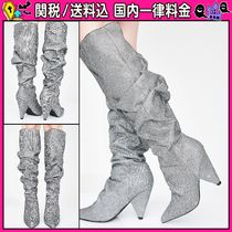 DOLLS KILL Casual Style Chunky Heels Over-the-Knee Boots