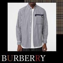 Burberry Stripes Long Sleeves Cotton Shirts
