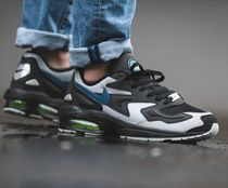 Nike AIR MAX Street Style Plain Leather Sneakers