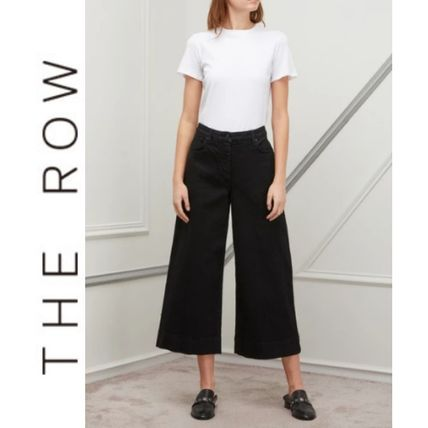 Casual Style Silk Street Style Plain Long Oversized Pants