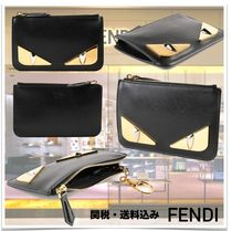 FENDI Unisex Street Style Leather Coin Cases