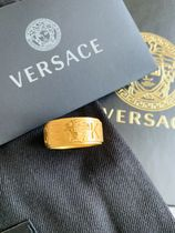 VERSACE Unisex Street Style Collaboration Metal Rings