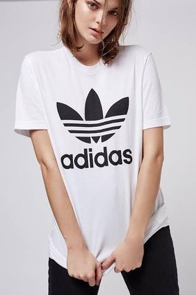 adidas Crew Neck Crew Neck Unisex Street Style Plain Cotton Short Sleeves 4