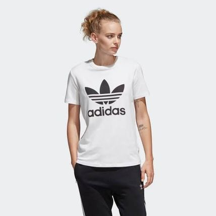 adidas Crew Neck Crew Neck Unisex Street Style Plain Cotton Short Sleeves 5