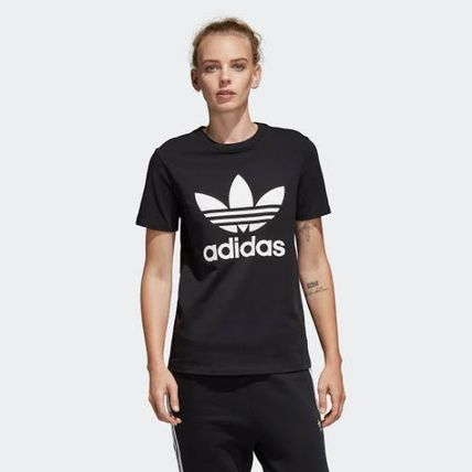 adidas Crew Neck Crew Neck Unisex Street Style Plain Cotton Short Sleeves 9