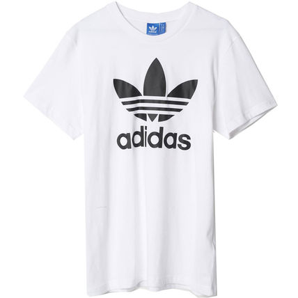 adidas Crew Neck Crew Neck Unisex Street Style Plain Cotton Short Sleeves 20