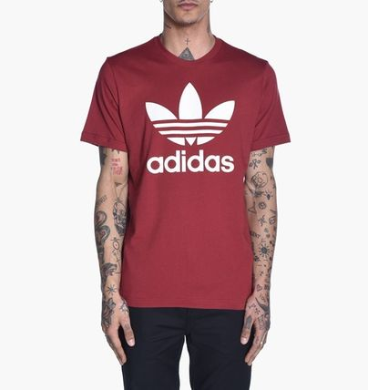 adidas Crew Neck Crew Neck Unisex Street Style Plain Cotton Short Sleeves 18
