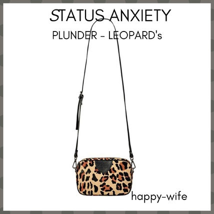 Leopard Patterns Casual Style Blended Fabrics Leather