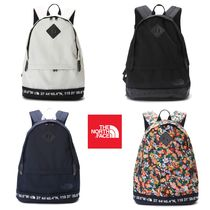THE NORTH FACE WHITE LABEL Flower Patterns Unisex Street Style A4 Plain Backpacks