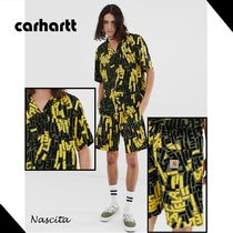 Carhartt Street Style Collaboration Khaki Top-bottom sets