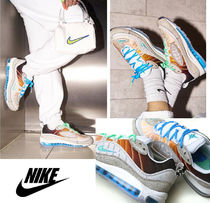 Nike AIR MAX 98 Casual Style Unisex Blended Fabrics Collaboration Leather