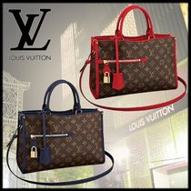 Louis Vuitton POPINCOURT Monogram A4 Leather Elegant Style Handbags