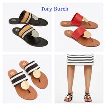 Tory Burch Open Toe Casual Style Leather Sandals