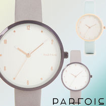 PARFOIS Casual Style Round Quartz Watches Analog Watches