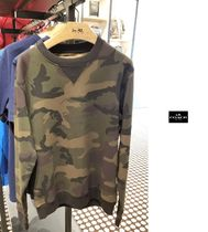 Coach Crew Neck Camouflage Unisex Street Style Long Sleeves Cotton