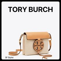 Tory Burch MILLER Canvas Plain Straw Bags