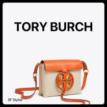 Tory Burch MILLER Unisex Canvas Plain Straw Bags