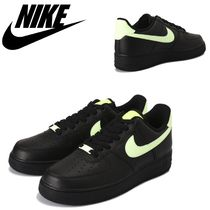 Nike AIR FORCE 1 Rubber Sole Casual Style Unisex Faux Fur Street Style