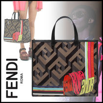 FENDI Monogram Street Style 2WAY Totes