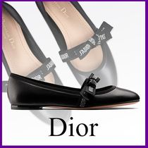 Christian Dior Plain Leather Ballet Shoes
