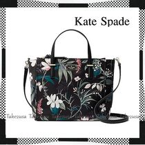 kate spade new york Flower Patterns Casual Style Nylon A4 2WAY Totes