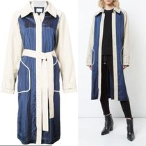 T by Alexander Wang Stripes Bi-color Medium Trench Coats