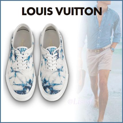 Louis Vuitton Loafers & Slip-ons Blended Fabrics Street Style Bi-color Loafers & Slip-ons