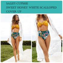CUPSHE Plain Lace Up Beach Cover-Ups