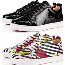 Christian Louboutin LOUIS Plain Leather Handmade Sneakers