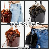 TOPSHOP Casual Style Blended Fabrics Street Style 2WAY Chain