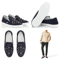 Jimmy Choo Star Studded Leather Handmade Loafers & Slip-ons