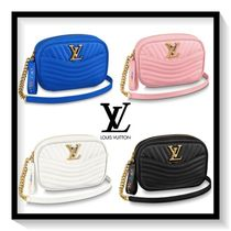 Louis Vuitton Casual Style Blended Fabrics 2WAY Chain Plain Leather