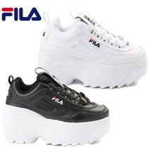 FILA Disruptor 2 Platform Lace-up Casual Style Street Style Leather